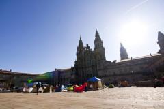 Santiago i acampada na placu Obradoiro