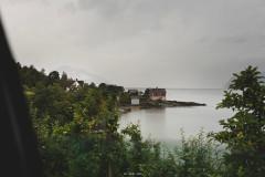 Norwegia w strugach deszczu